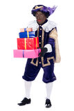 Zwarte Piet with presents Stock Image