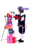 Zwarte Piet with presents Royalty Free Stock Photography