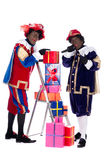 Zwarte Piet with presents Stock Photo