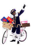 Zwarte Piet with presents Royalty Free Stock Photo