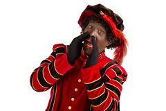 Zwarte piet shouting Stock Photo