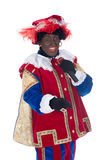 Zwarte Piet is singing Royalty Free Stock Photos