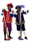 Zwarte Piet is singing Stock Photography