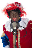 Zwarte Piet is singing Stock Photo