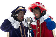 Zwarte Piet is singing Stock Image
