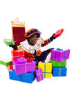 Zwarte piet sinterklaas (black pete). Zwarte piet.clipping path included  .typical Dutch character part of a traditional event celebrating the birthday of Stock Images