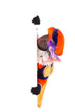 Zwarte piet sinterklaas (black pete). Zwarte piet ( black pete)  clipping path included. typical Dutch character part of a traditional event celebrating the Stock Photos
