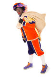 Zwarte piet sinterklaas (black pete). Zwarte piet.clipping path included  .typical Dutch character part of a traditional event celebrating the birthday of Royalty Free Stock Images