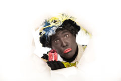 Zwarte piet sinterklaas (black pete) Royalty Free Stock Photos