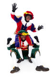 Zwarte piet sinterklaas (black pete) Stock Photos