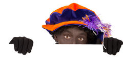 Zwarte Piet ,Sinterklaas (black pete) Stock Photo