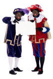 Zwarte Piet with a whiteboard, to put your own text on Royalty Free Stock Images