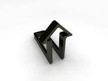 Zwarte pijl Royalty-vrije Stock Afbeeldingen