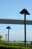 Zwarte pijler in het park Royalty-vrije Stock Afbeeldingen