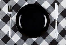 Zwarte plaat Royalty-vrije Stock Afbeeldingen