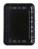 Zwarte plastic container Royalty-vrije Stock Afbeelding
