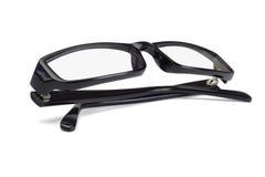Zwarte plastic frame bril stock afbeelding