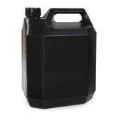 Zwarte plastic gallon Royalty-vrije Stock Fotografie