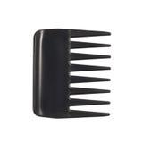 Zwarte plastic haarkam Royalty-vrije Stock Afbeeldingen