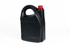 Zwarte plastic jerrycan Stock Foto's