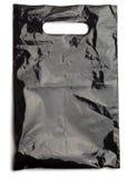 Zwarte plastic zak Royalty-vrije Stock Afbeeldingen