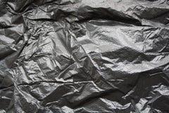 Zwarte plastic zak Royalty-vrije Stock Afbeelding