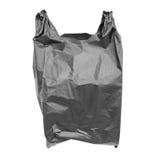 Zwarte plastic zak royalty-vrije stock foto's