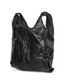 Zwarte plastic zak Stock Afbeeldingen