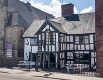 Zwarte Poort gastro bar in Oswestry Shropshire stock foto