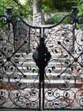 Zwarte poorten Royalty-vrije Stock Foto's