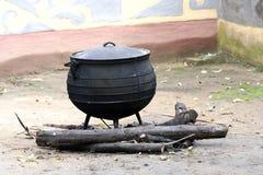 Zwarte pot stock afbeelding