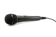 Zwarte professionele geïsoleerde microfoon Royalty-vrije Stock Afbeelding