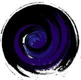 Zwarte purpere spiraalvormige draaien, abstractie, vreesconcept stock illustratie