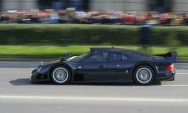 Zwarte Raceauto Stock Foto's