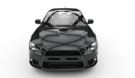 Zwarte Raceauto Royalty-vrije Stock Fotografie