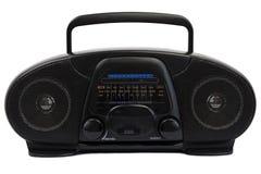 Zwarte radio van de jaren '90 Stock Afbeeldingen