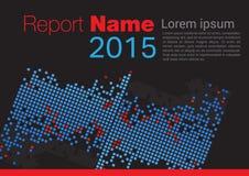 Zwarte Rapportdekking 2015 stock illustratie