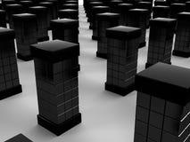 Zwarte rechthoekige server #1 Stock Fotografie