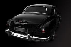 Zwarte retro auto Stock Fotografie