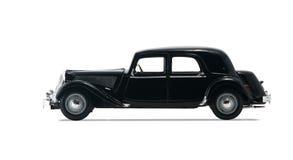 Zwarte retro auto Royalty-vrije Stock Afbeelding