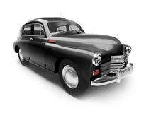 Zwarte retro auto Stock Afbeeldingen