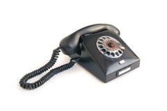 Zwarte retro telefoon Royalty-vrije Stock Fotografie