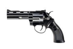 Zwarte revolver Stock Foto