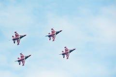 Zwarte Ridders in Singapore Airshow 2014 Stock Foto