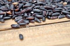 Zwarte rijst op lijst royalty-vrije stock afbeelding