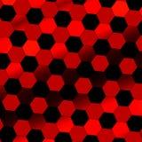 Zwarte rode abstracte digitale achtergrond De textuur van de technologie Mooi, eenvoudig beeld niemand Schuine standmening Vlakke royalty-vrije illustratie