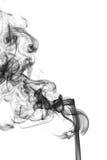 Zwarte rook op witte achtergrond Royalty-vrije Stock Afbeelding