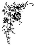 Zwarte rozen, illustratie Royalty-vrije Stock Fotografie