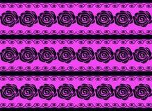 Zwarte rozen op een purpere achtergrond royalty-vrije illustratie
