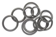Zwarte rubberverbindingen Royalty-vrije Stock Foto's